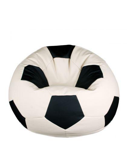 Футболна топка - бяло и черно