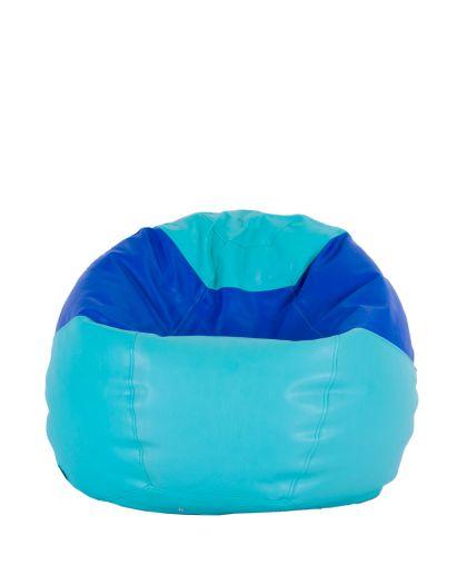 Детски пуф микс зелено и синьо