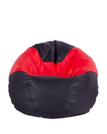 Детски пуф микс черно и червено