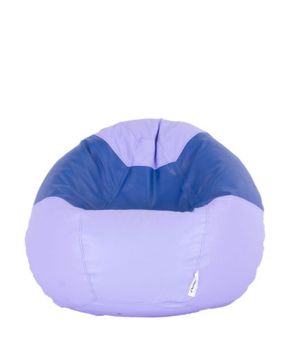 Детски пуф микс светло лилаво и синьо