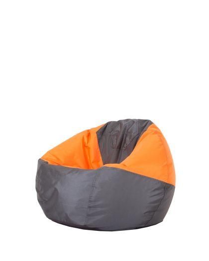 детски пуф микс оранжево и сиво