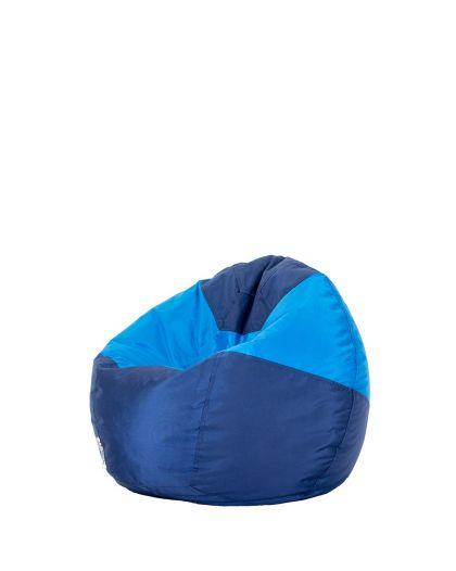 Детски пуф микс тъмно синьо и синьо
