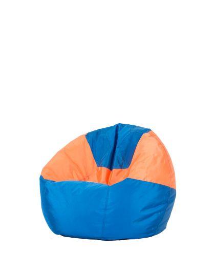 Детски пуф микс синьо и оранжево