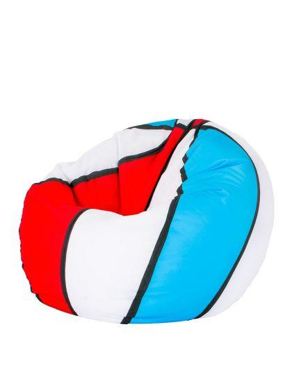 Баскетболна червено синьо и бяло
