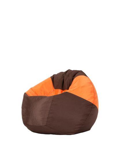 Детски пуф микс кафяво и оранжево