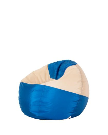 Детски пуф микс синьо и крем