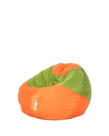 Детски пуф микс оранжево и зелено