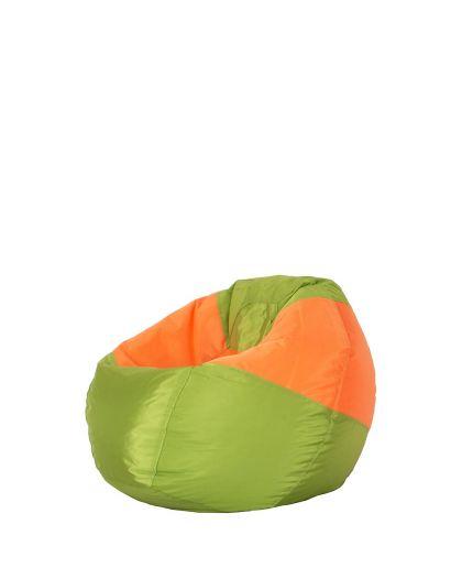 Детски пуф микс зелено и оранжево