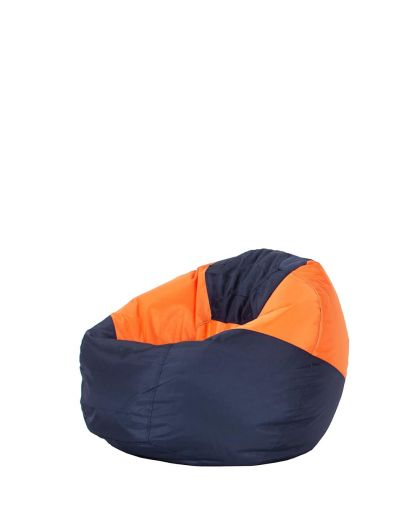 Детски пуф микс тъмно синьо и оранжево
