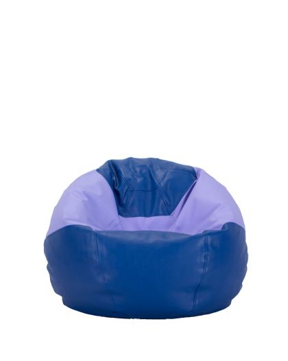 Детски пуф микс синьо и лилаво