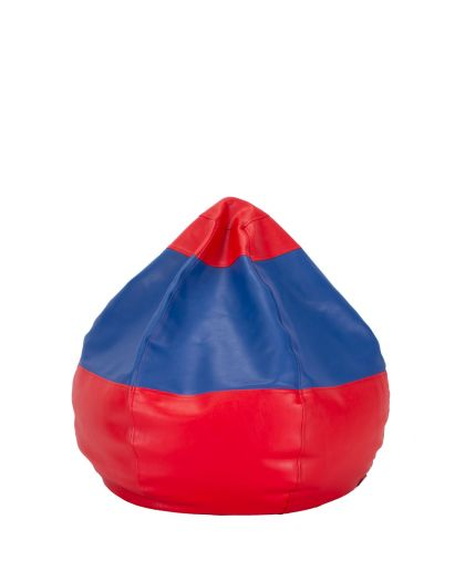 Детски пуф микс червено и синьо