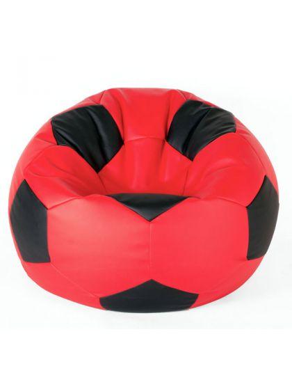 Футболна топка червено и черно